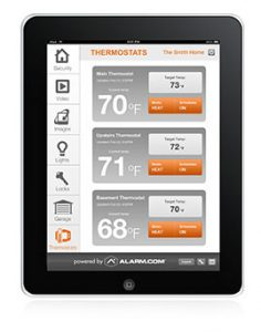 Smart tablet showing how to control home devices