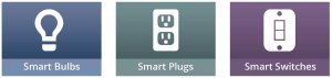 Smart bulbs, smart plugs, smart switches